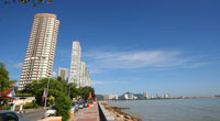 A beautiful view of Georgetown on Penang Island.