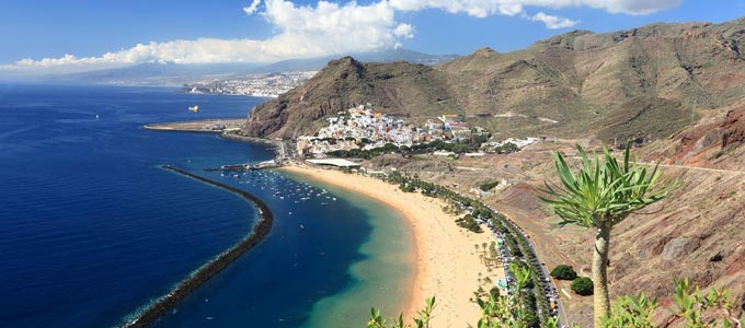 The coastline of Tenerife Island, Canary Islands.