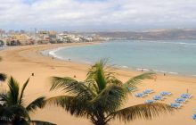 The shores of Playa de las Canteras - one of the most visited beaches on the Canary Islands