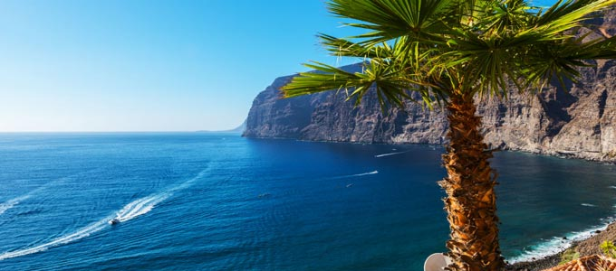An ocean view from one of the Canary Islands.